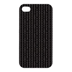 Dark Black Mesh Patterns Apple Iphone 4/4s Premium Hardshell Case