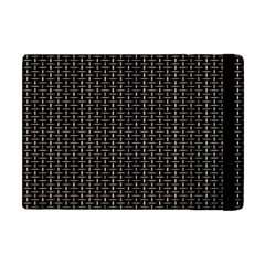 Dark Black Mesh Patterns Apple Ipad Mini Flip Case