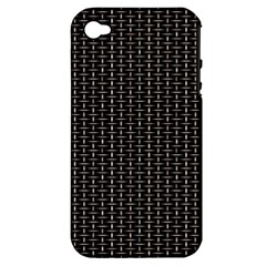 Dark Black Mesh Patterns Apple iPhone 4/4S Hardshell Case (PC+Silicone)