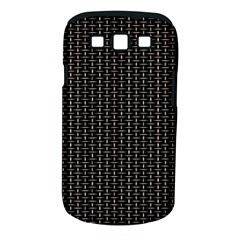 Dark Black Mesh Patterns Samsung Galaxy S Iii Classic Hardshell Case (pc+silicone)