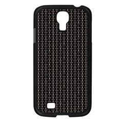 Dark Black Mesh Patterns Samsung Galaxy S4 I9500/ I9505 Case (Black)
