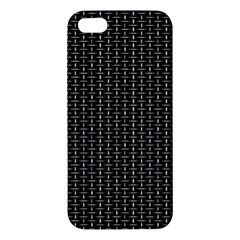 Dark Black Mesh Patterns iPhone 5S/ SE Premium Hardshell Case