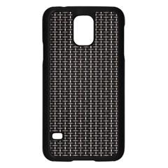 Dark Black Mesh Patterns Samsung Galaxy S5 Case (Black)