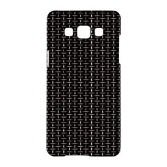 Dark Black Mesh Patterns Samsung Galaxy A5 Hardshell Case