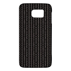 Dark Black Mesh Patterns Galaxy S6