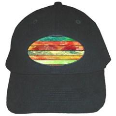 Stripes Color Oil Black Cap