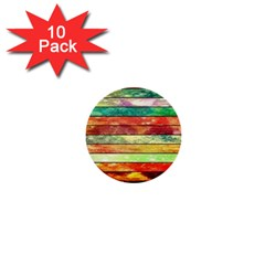Stripes Color Oil 1  Mini Buttons (10 pack)