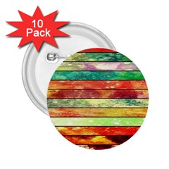 Stripes Color Oil 2 25  Buttons (10 Pack)