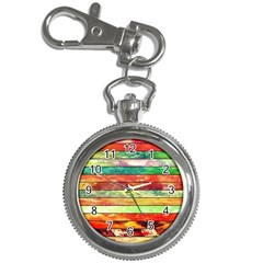 Stripes Color Oil Key Chain Watches