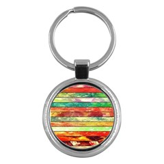 Stripes Color Oil Key Chains (round)