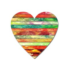 Stripes Color Oil Heart Magnet