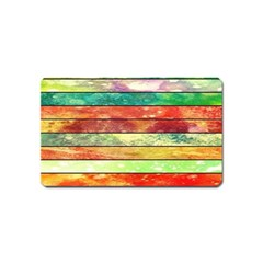 Stripes Color Oil Magnet (name Card)