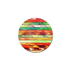 Stripes Color Oil Golf Ball Marker (4 Pack)