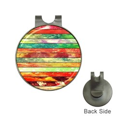 Stripes Color Oil Hat Clips With Golf Markers