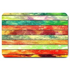 Stripes Color Oil Large Doormat