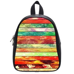 Stripes Color Oil School Bags (small)
