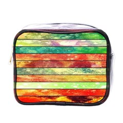 Stripes Color Oil Mini Toiletries Bags