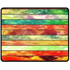 Stripes Color Oil Fleece Blanket (Medium)
