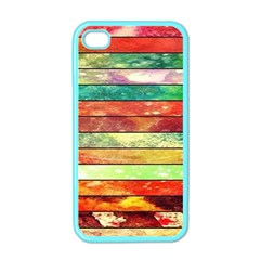 Stripes Color Oil Apple Iphone 4 Case (color)