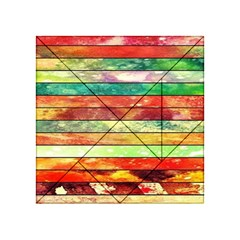 Stripes Color Oil Acrylic Tangram Puzzle (4  x 4 )