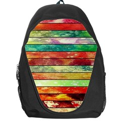 Stripes Color Oil Backpack Bag