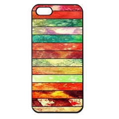 Stripes Color Oil Apple iPhone 5 Seamless Case (Black)
