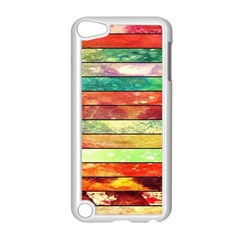Stripes Color Oil Apple iPod Touch 5 Case (White)