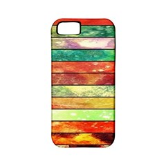 Stripes Color Oil Apple iPhone 5 Classic Hardshell Case (PC+Silicone)