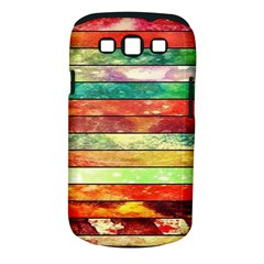 Stripes Color Oil Samsung Galaxy S III Classic Hardshell Case (PC+Silicone)