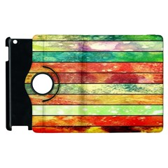 Stripes Color Oil Apple iPad 2 Flip 360 Case