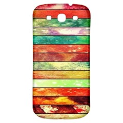 Stripes Color Oil Samsung Galaxy S3 S Iii Classic Hardshell Back Case
