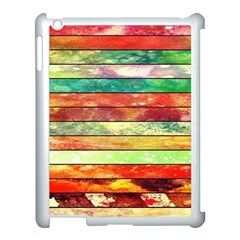Stripes Color Oil Apple Ipad 3/4 Case (white)