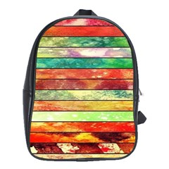 Stripes Color Oil School Bags (xl)