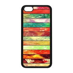 Stripes Color Oil Apple iPhone 5C Seamless Case (Black)
