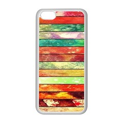 Stripes Color Oil Apple iPhone 5C Seamless Case (White)