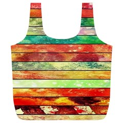 Stripes Color Oil Full Print Recycle Bags (L)