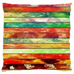 Stripes Color Oil Standard Flano Cushion Case (one Side)