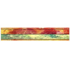 Stripes Color Oil Flano Scarf (Large)