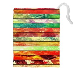 Stripes Color Oil Drawstring Pouches (XXL)