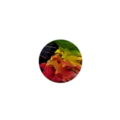 Green Yellow Red Maple Leaf 1  Mini Buttons