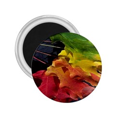 Green Yellow Red Maple Leaf 2 25  Magnets