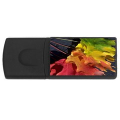 Green Yellow Red Maple Leaf USB Flash Drive Rectangular (1 GB)