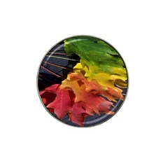 Green Yellow Red Maple Leaf Hat Clip Ball Marker