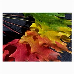 Green Yellow Red Maple Leaf Large Glasses Cloth