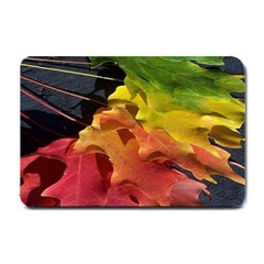 Green Yellow Red Maple Leaf Small Doormat