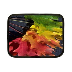 Green Yellow Red Maple Leaf Netbook Case (small)