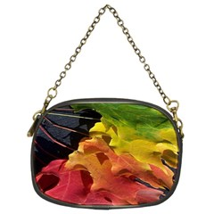 Green Yellow Red Maple Leaf Chain Purses (two Sides)