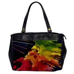 Green Yellow Red Maple Leaf Office Handbags
