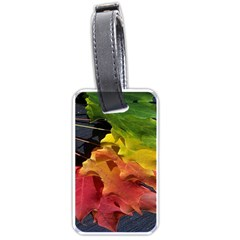 Green Yellow Red Maple Leaf Luggage Tags (one Side)