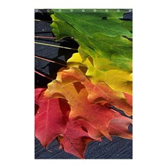 Green Yellow Red Maple Leaf Shower Curtain 48  x 72  (Small)